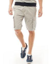 French Connection Cargo Shorts Light Grey