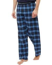 French Connection - Flannel Lounge Trousers Multi Blue - Lyst