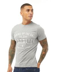 883 Police Tee-Shirt Ville Gris Chiné