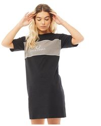 Fred Perry Embroidered T-shirt Dress Black
