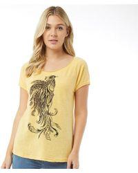 Animal Oceanica Graphic T-shirt Sunshine Yellow Marl