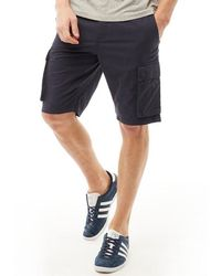 French Connection Cargo Shorts Blue
