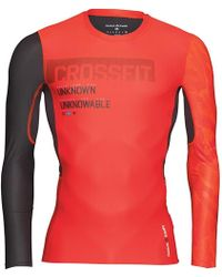 77bb3bf9243e Reebok Crossfit Long Sleeve Compression Top Riot Red in Red for Men - Lyst