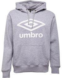 Umbro Active Style Large Logo Hoodie Grey Marl/white