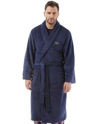 Ben Sherman Henry Fleece Robe Navy - Blue