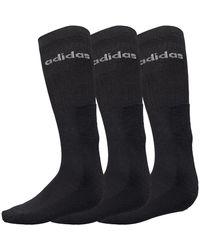 adidas Three Pack Crew Socks Black/white