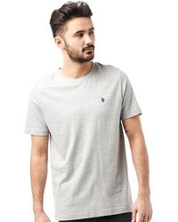 U.S. POLO ASSN. - Legacy T-shirt Light Grey Marl - Lyst