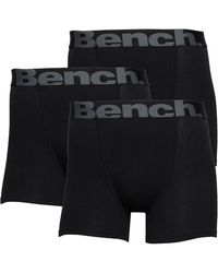 Bench Sutton Three Pack Boxer Trunks Black/multi
