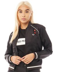 Fred Perry Embroidered 50's Bomber Black