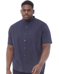 French Connection - Plus Size Plain Henley Short Sleeve Shirt Marine - Lyst