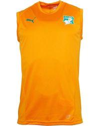 PUMA Fif Ivory Coast Sleeveless Training Jersey Flame Orange/flame Orange