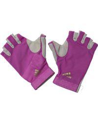 adidas - Climalite Training Gloves Shock Purple/black/silver Metallic - Lyst