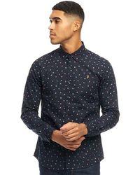 Farah - Droog Long Sleeve Shirt True Navy - Lyst