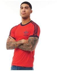 adidas Originals - Essentials California T-Shirt Rot - Lyst