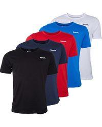 Bench Noah Five Pack T-shirts Multi - Blue