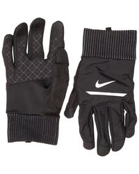 Nike Shield Running Gloves Black/wolf Grey/silver