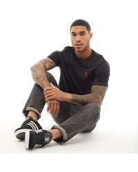 adidas Originals Trefoil Essentials Tee Black/scarlet
