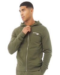 New Balance Fleece Zip Hoodie Army Green