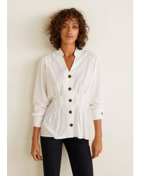 Mango - Contrasted Buttons Shirt - Lyst