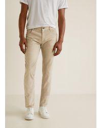 207b63d1408d7 Mango - Five Pocket Corduroy Trousers - Lyst