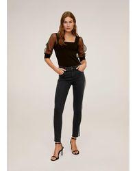 Mango - Skinny Sparkle Jeans Black Denim - Lyst