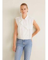Mango - Asymmetric Collar Shirt - Lyst