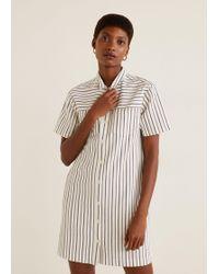 bcba5271813 Lyst - Mango White Denim Pinafore Dress in White