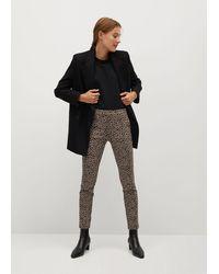 Mango Crop Skinny Trousers Beige - Natural