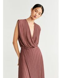 Mango Pleated Top - Pink