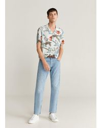 Mango Hawaiian Flowy Shirt - White