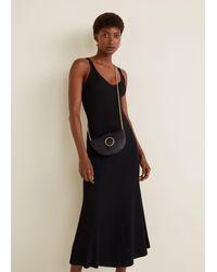Mango Chain Crossbody Belt Bag Black