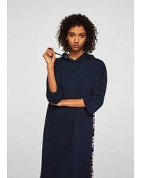 Mango - Message Sweatshirt Dress - Lyst