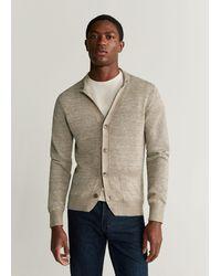 Mango Cotton Linen Knit Blazer - Natural