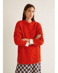 Mango - Knitted Braided Jumper - Lyst