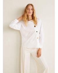 Mango - Buttoned Cotton Shirt - Lyst