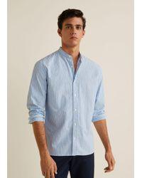 Mango - Regular-fit Striped Cotton Shirt - Lyst