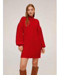 Mango Chenille Dress - Red