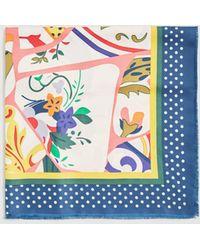 Mango - Floral Print Scarf - Lyst