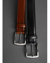 Mango Leather Belt Black