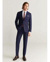 Mango Katoenen Tailored Slim-fit Overhemd - Wit