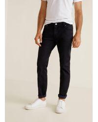 Mango - Slim-fit Black Jan Jeans - Lyst