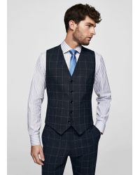 Mango - Slim-fit Check Wool Suit Trousers - Lyst