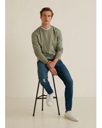Mango - Skinny Vintage Wash Dylan Jeans - Lyst
