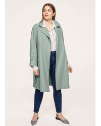 Violeta by Mango - Classic Cotton Trench Coat - Lyst