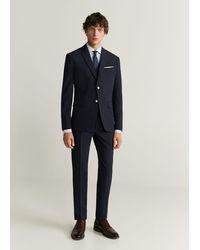 Mango Gestreept Tailored Slim-fit Overhemd - Wit