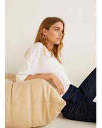 Mango - Modal Long Sleeve T-shirt - Lyst