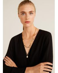 Mango - Mixed Chain Necklace - Lyst