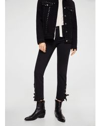 Mango - Bow Detail Straight Jeans - Lyst