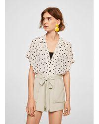 Mango - Bow Flowy Shorts - Lyst