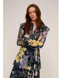 Mango Floral-print Flowy Blouse - Multicolour
